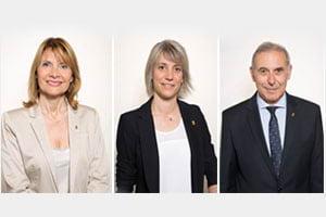Lluïsa Moret, Alba Barnusell, Enric Llorca